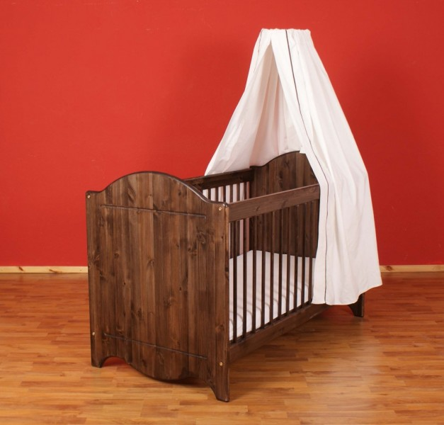 babybett landhaus dahlhaus kiefer nussbaum ge lt babybetten. Black Bedroom Furniture Sets. Home Design Ideas