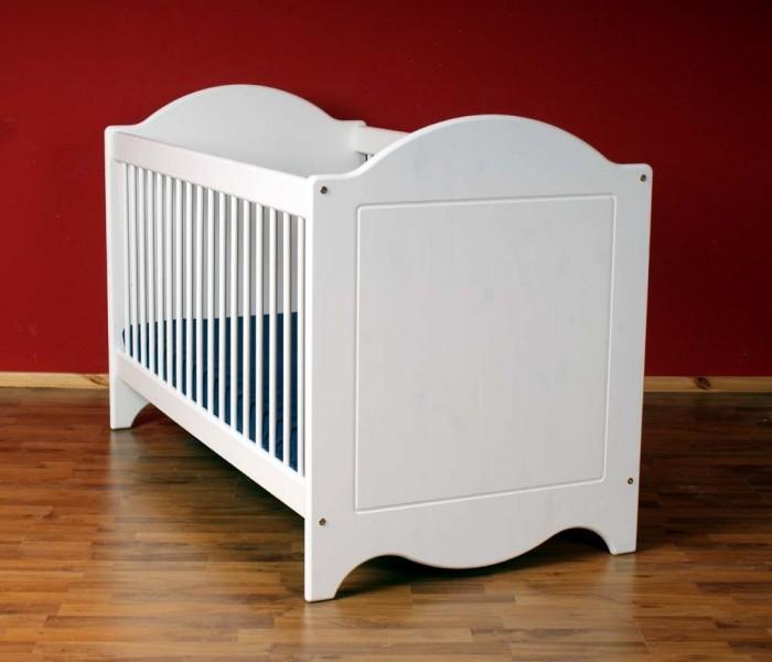 babybett landhaus dahlhaus kiefer wei babybetten. Black Bedroom Furniture Sets. Home Design Ideas